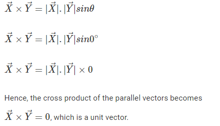 Cross Product of Parallel vectors