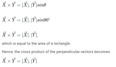 Cross Product of Perpendicular Vectors