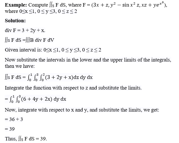 Divergence Theorem Example