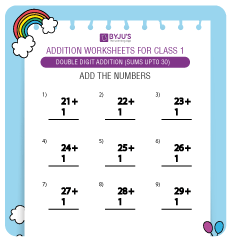 Double Digit Addition Worksheet