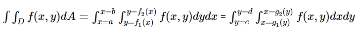 Double Integral Formula when function is continuous