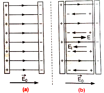Electric Field Inside a Dielectric