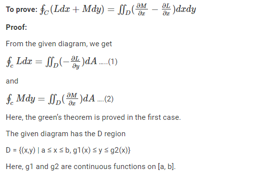 Green's Theorem Proof