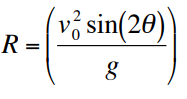 Horizontal Range Equation