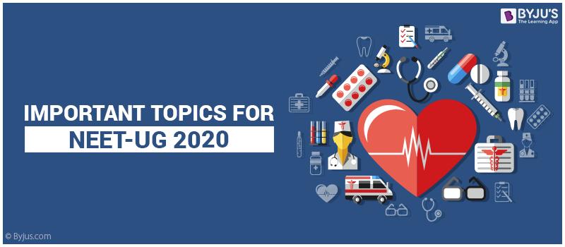 Important topics for NEET 2020