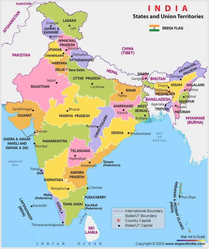 India New Political Map