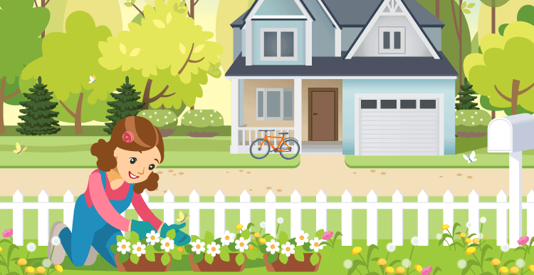 My Garden Paragraph For Class 1 Kids Download For Free