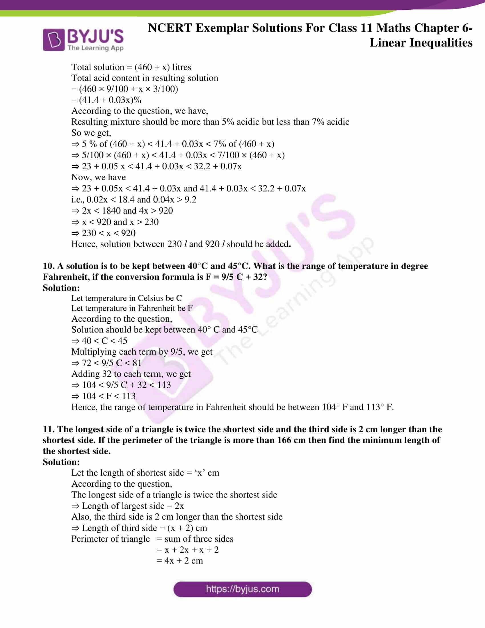 ncert exemplar solutions for class 11 maths chapter 6