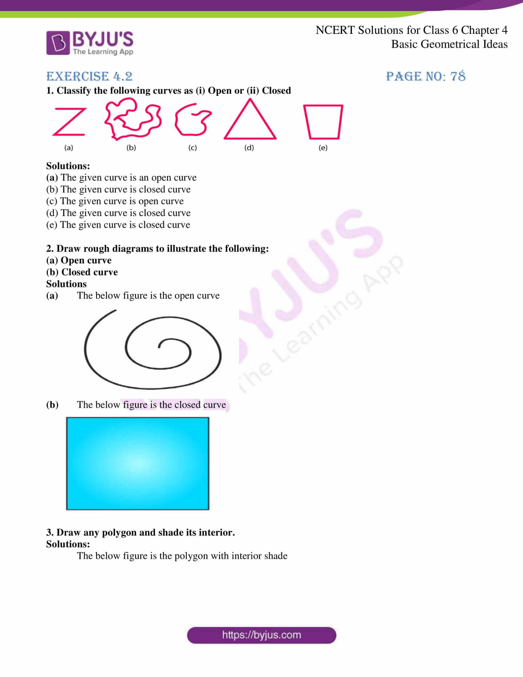 NCERT Solutions Class 6 Maths Chapter 4 Basic Geometrical