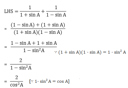 R D Sharma Solutions For Class 10 Maths Chapter 6 Trigonometric Identities ex 6.1 - 19