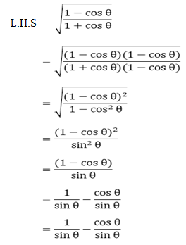 R D Sharma Solutions For Class 10 Maths Chapter 6 Trigonometric Identities ex 6.1 - 6