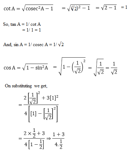 R D Sharma Solutions For Class 10 Maths Chapter 6 Trigonometric Identities ex 6.2 - 11