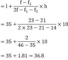 R D Sharma Solutions For Class 10 Maths Chapter 7 Statistics ex 7.5 - 9