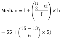R D Sharma Solutions For Class 10 Maths Chapter 7 Statistics ex 7.4 - 8
