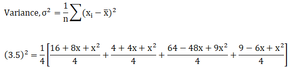 R S Aggarwal Solution Class 11 chapter 30 Ex 30C Solution 1 Variance