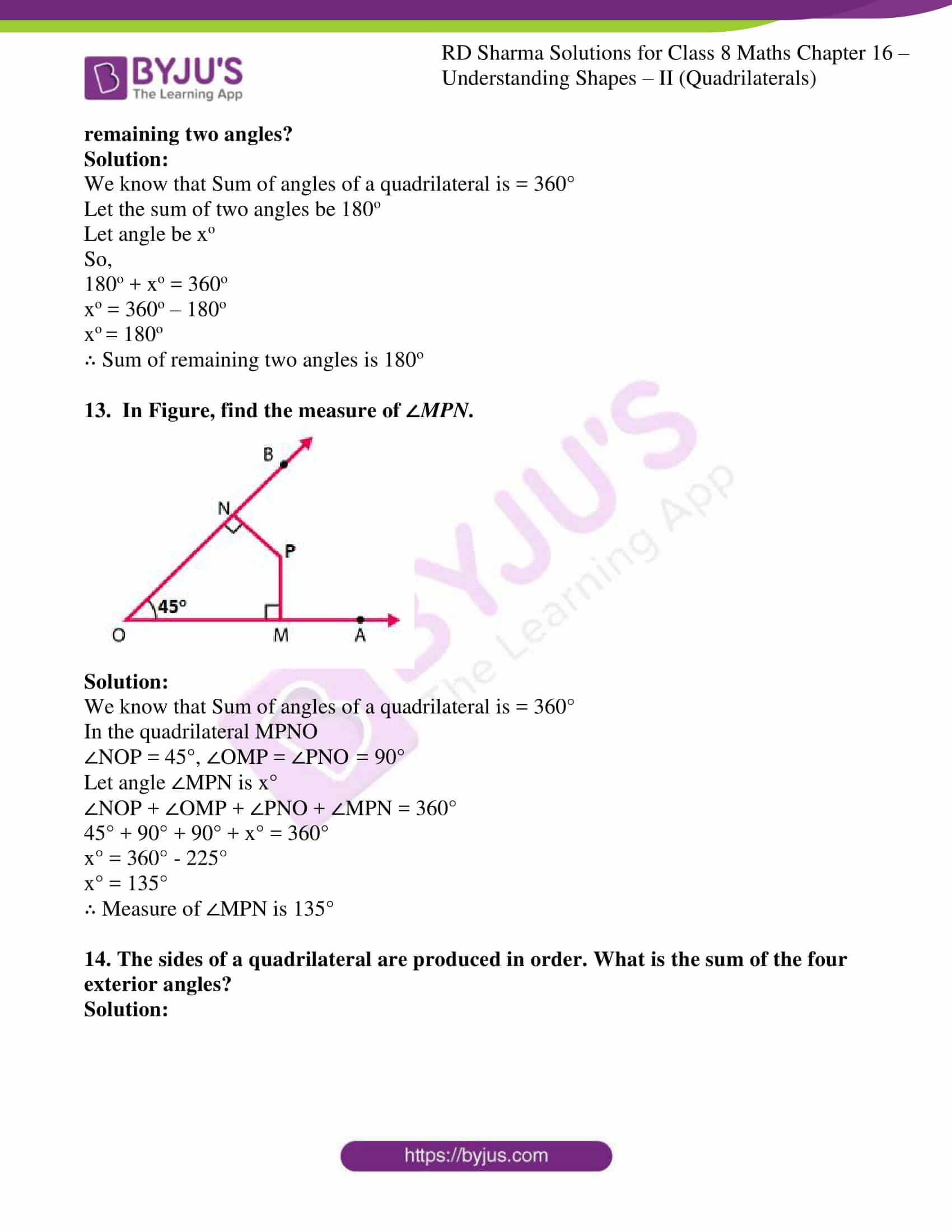 rd sharma class 8 maths chapter 16