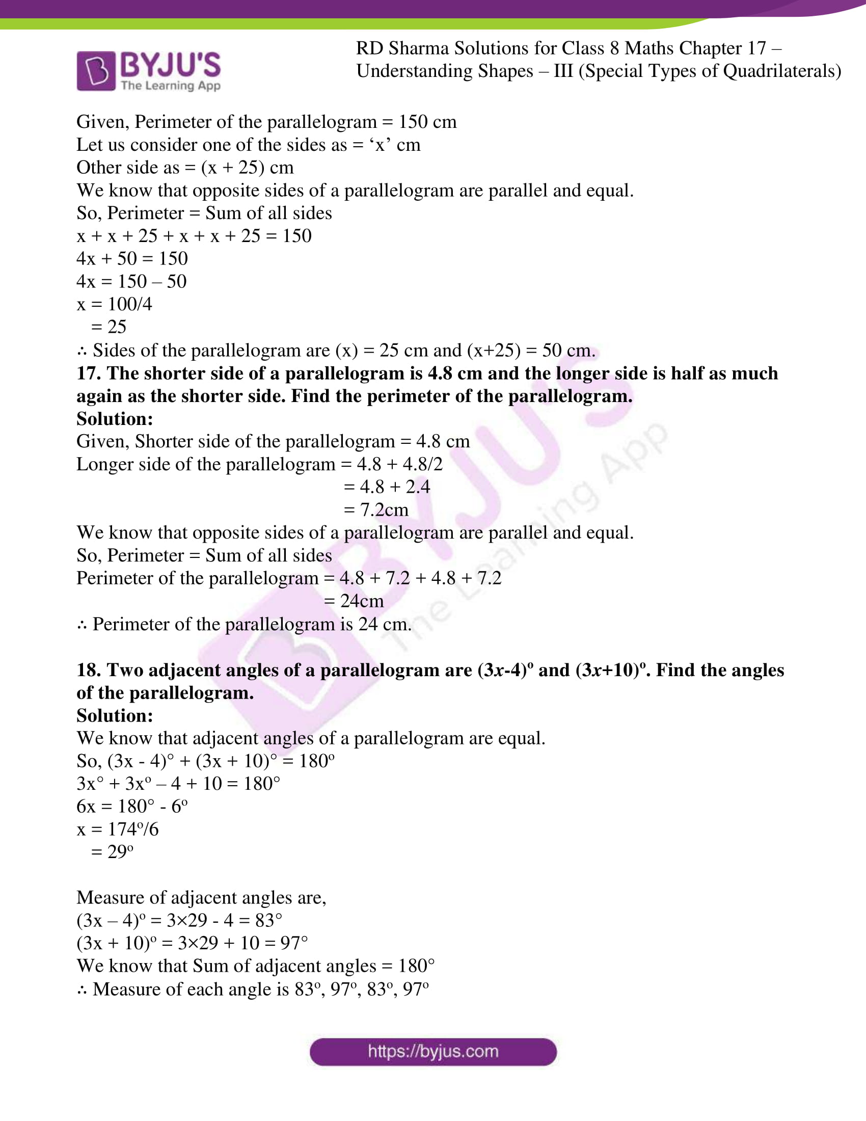 rd sharma class 8 maths chapter 17 exercise 1