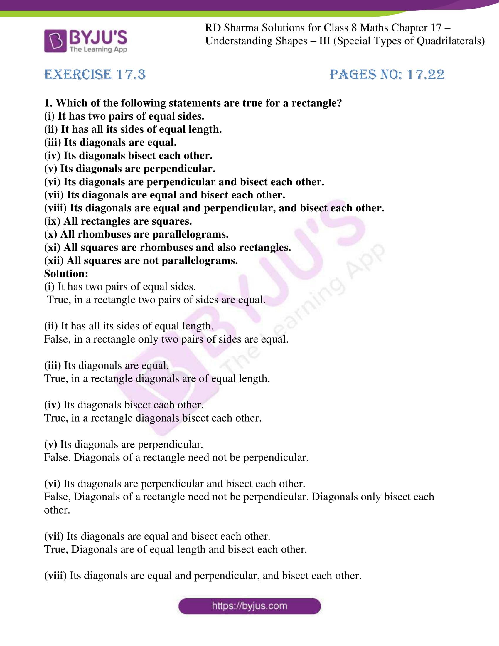 rd sharma class 8 maths chapter 17 exercise 3