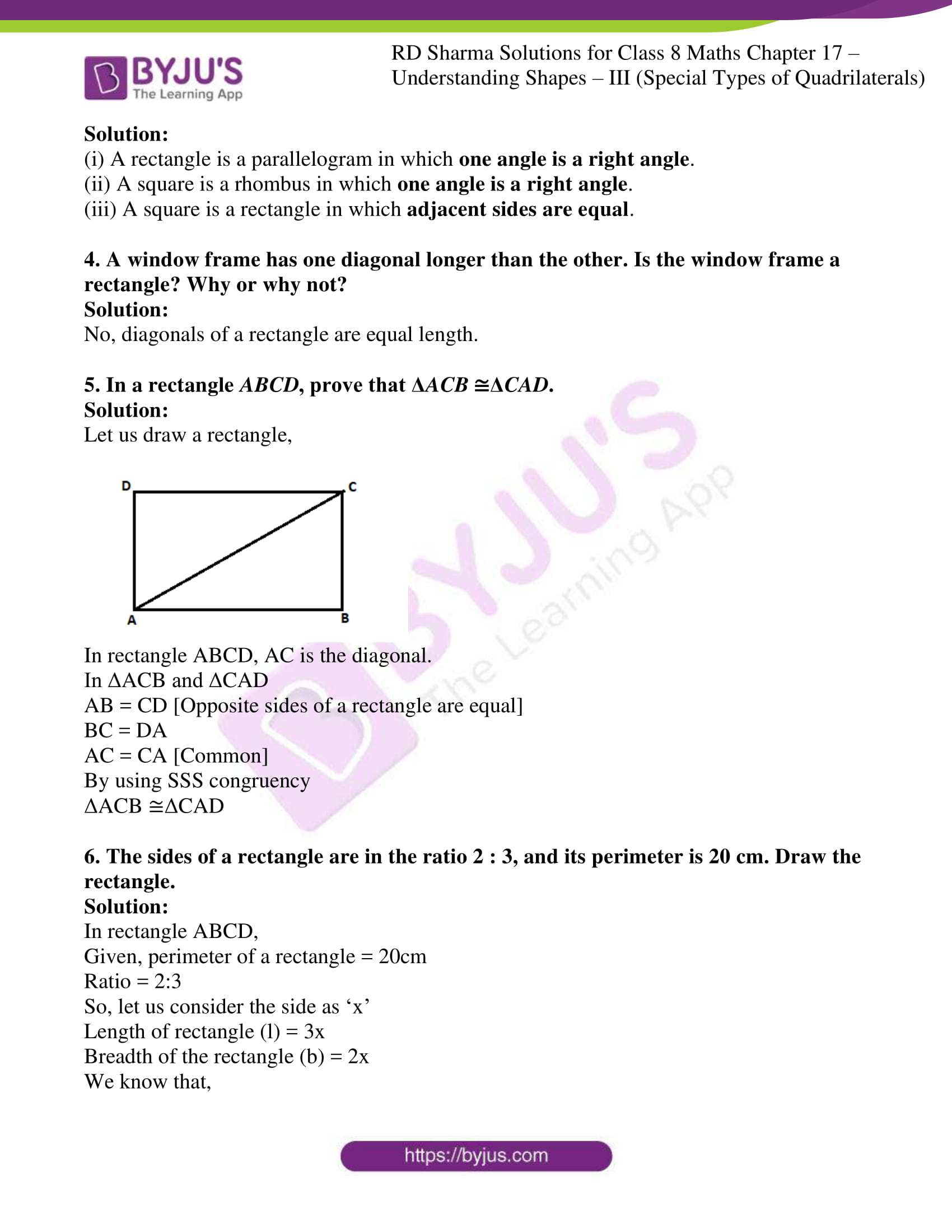 rd sharma class 8 maths chapter 17 exercise 3