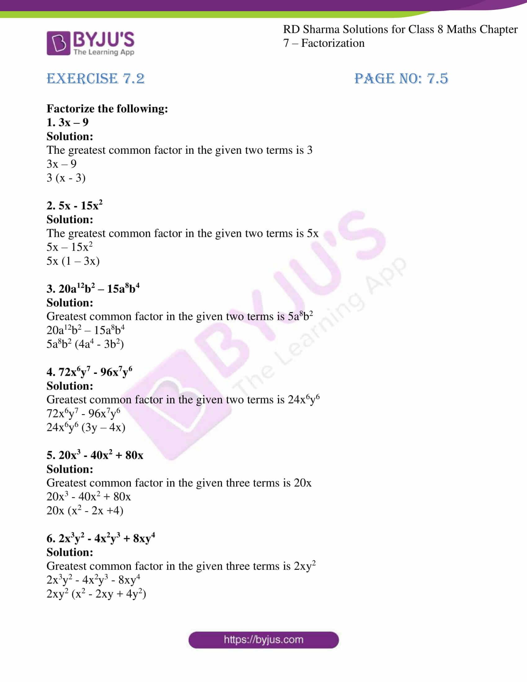rd sharma class 8 maths chapter 7