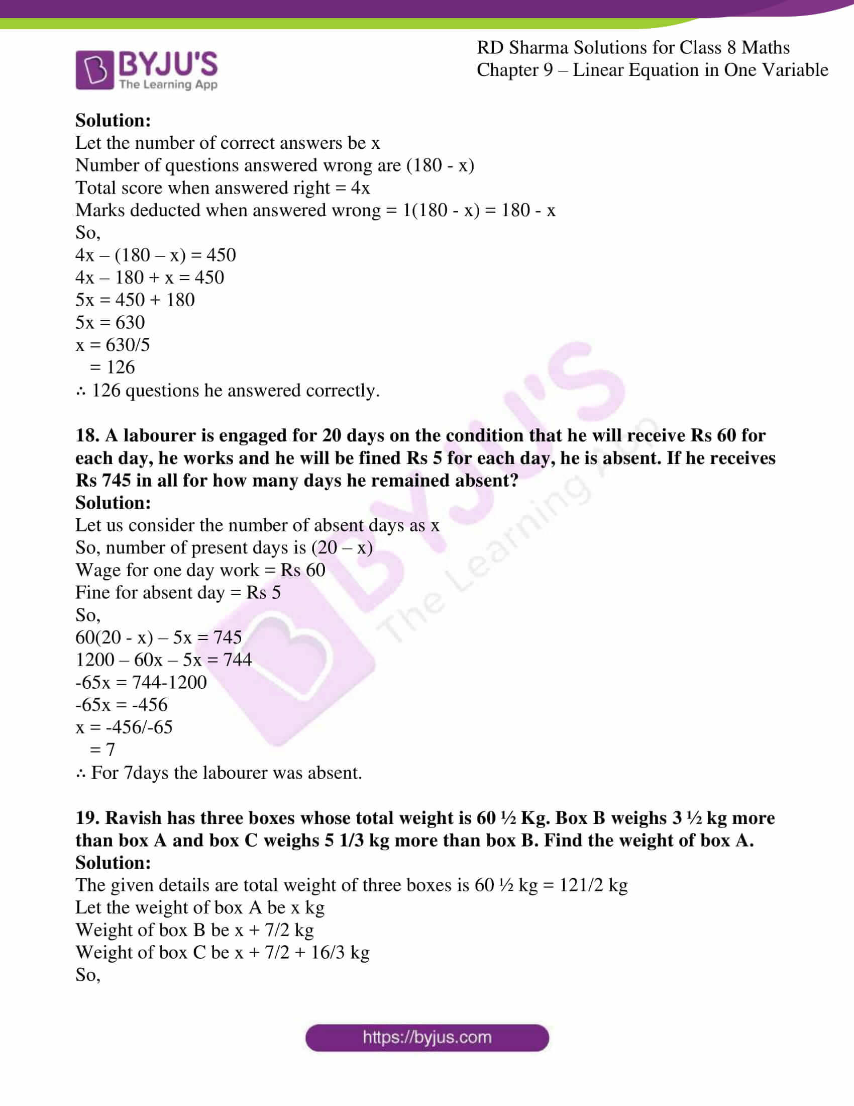 rd sharma class 8 maths chapter 9
