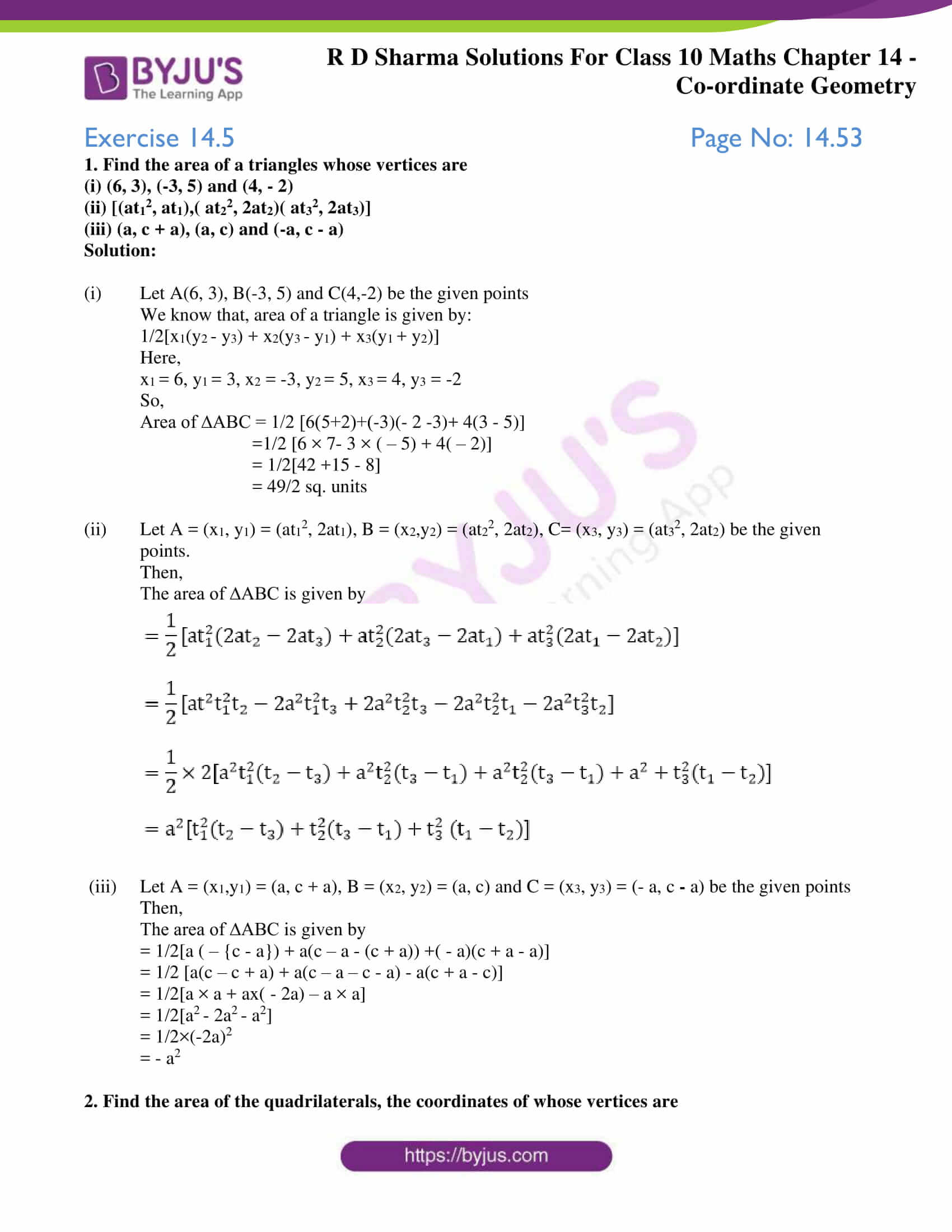 rd sharma solutions class 10 chapter 14 exercise 5