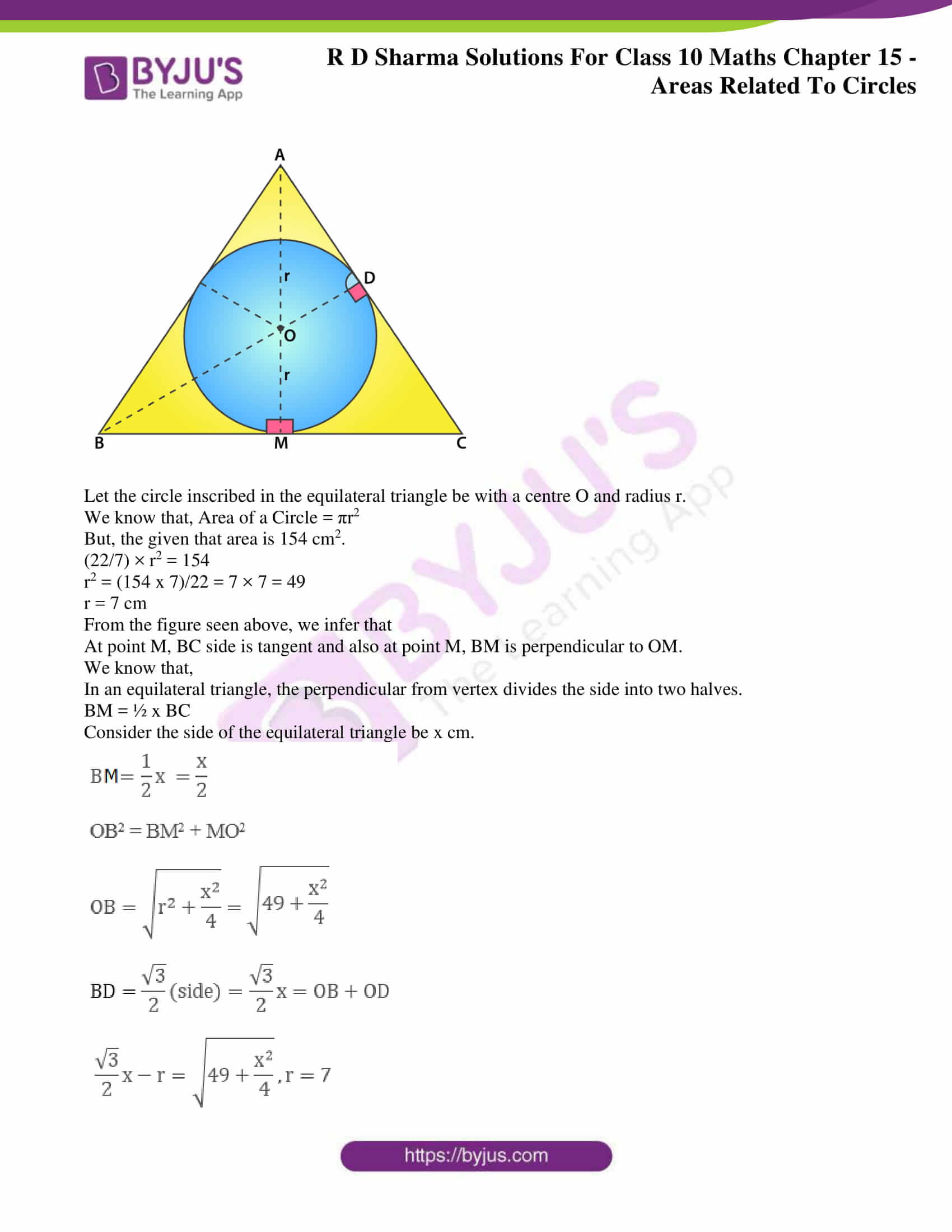 rd sharma solutions class 10 chapter 15 exercise 1