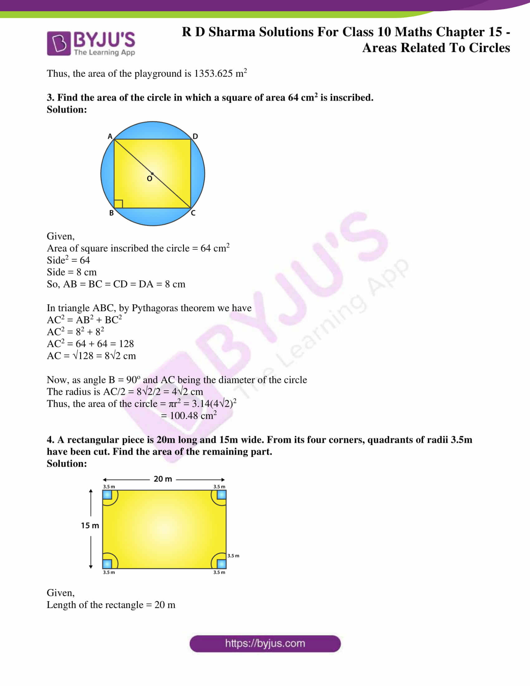 rd sharma solutions class 10 chapter 15 exercise 4