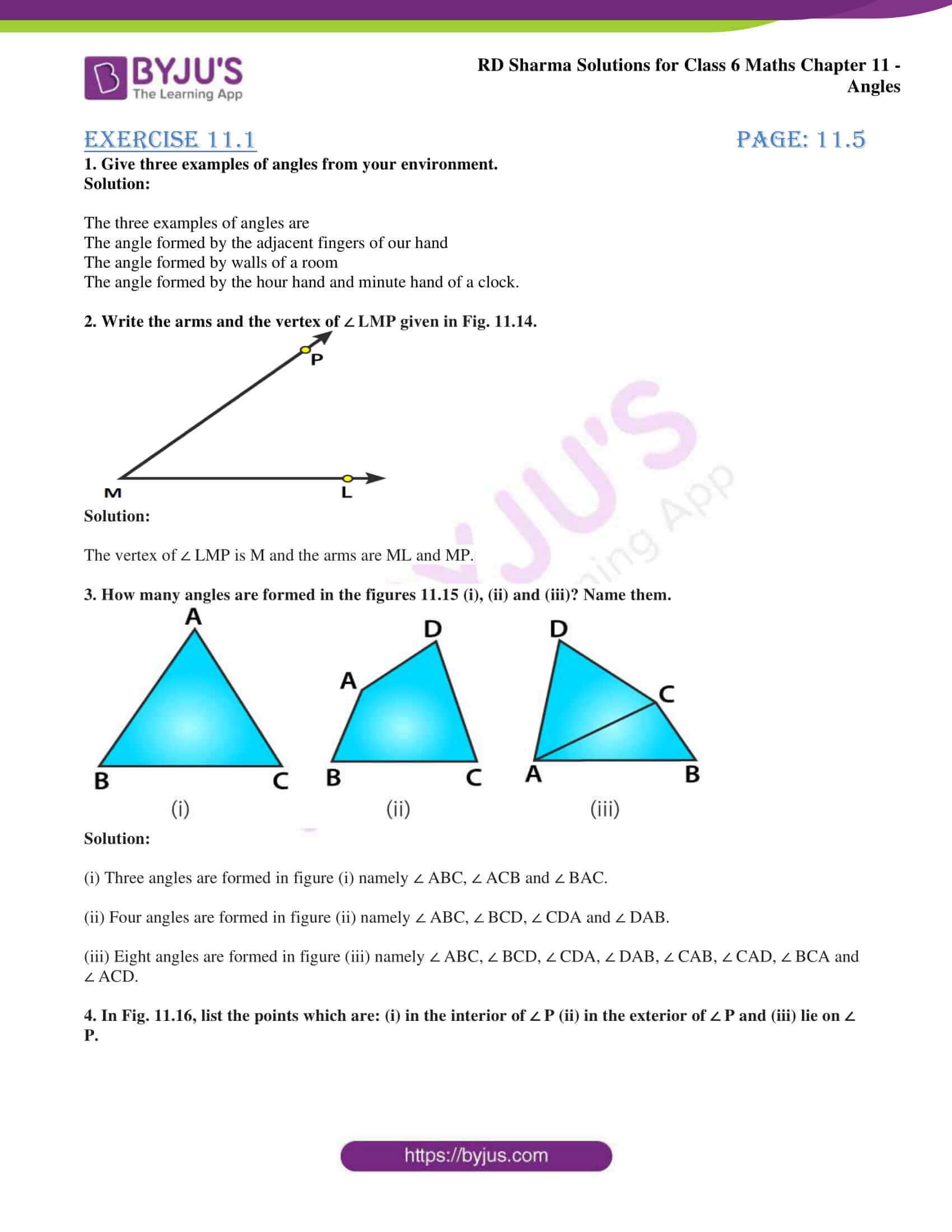 rd sharma solutions class 6 maths chapter 11 Exercise 11.1 01