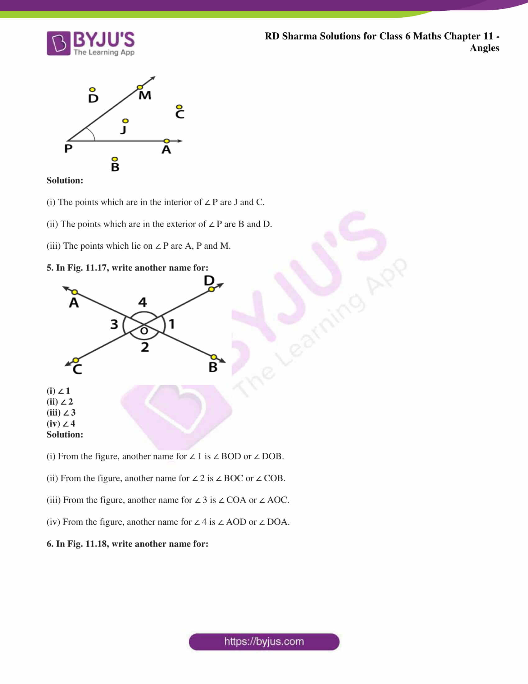 rd sharma solutions class 6 maths chapter 11 Exercise 11.1 02