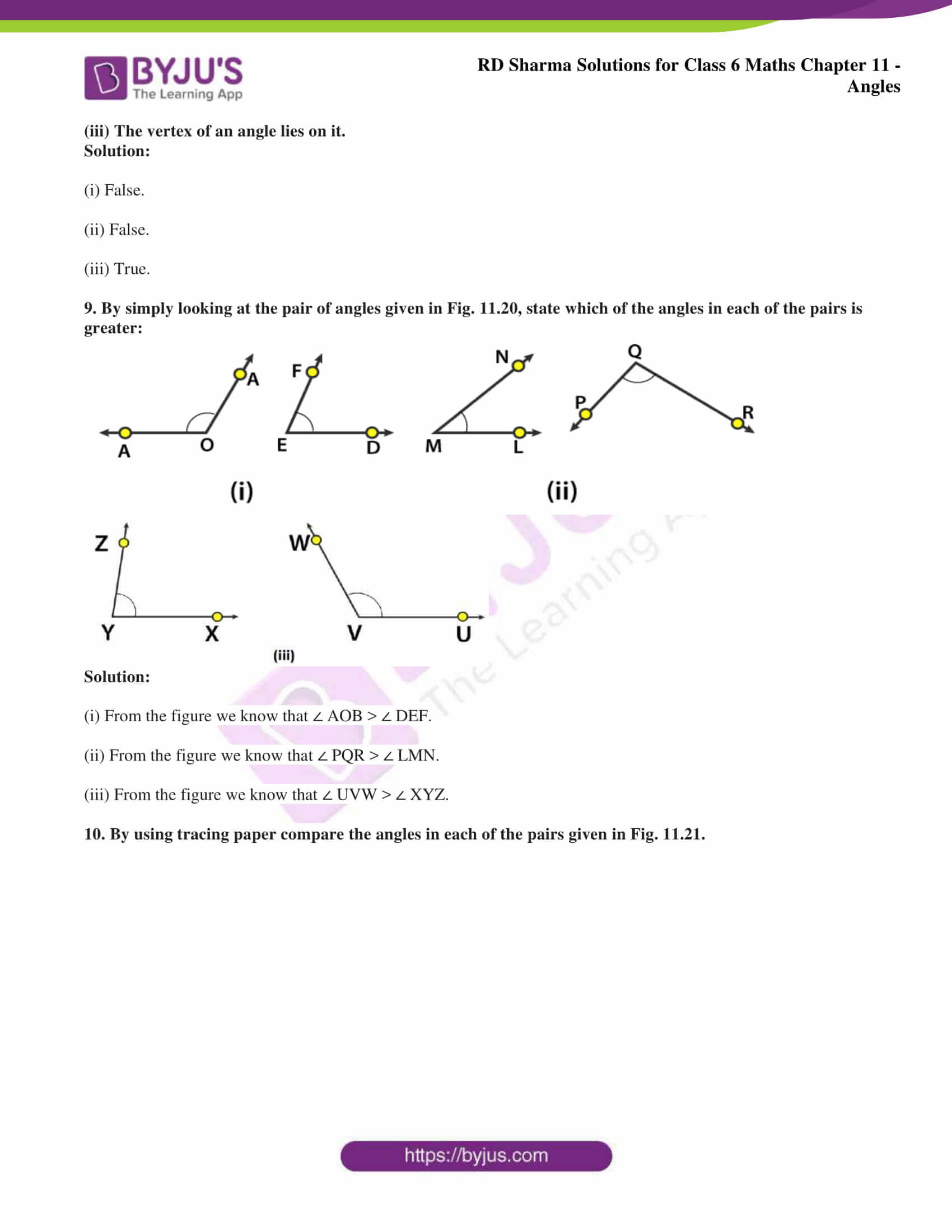 rd sharma solutions class 6 maths chapter 11 Exercise 11.1 04