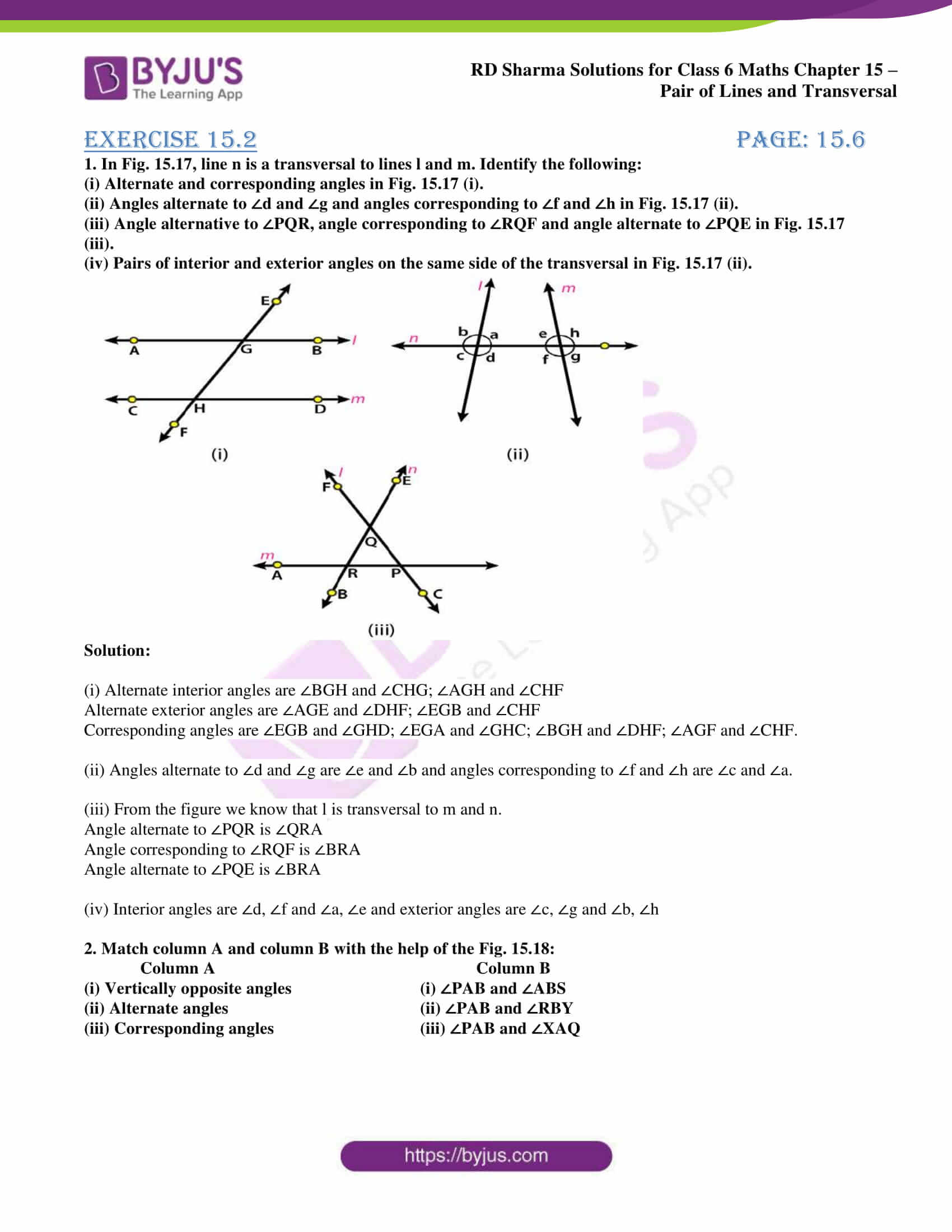 rd sharma solutions class 6 maths chapter 15