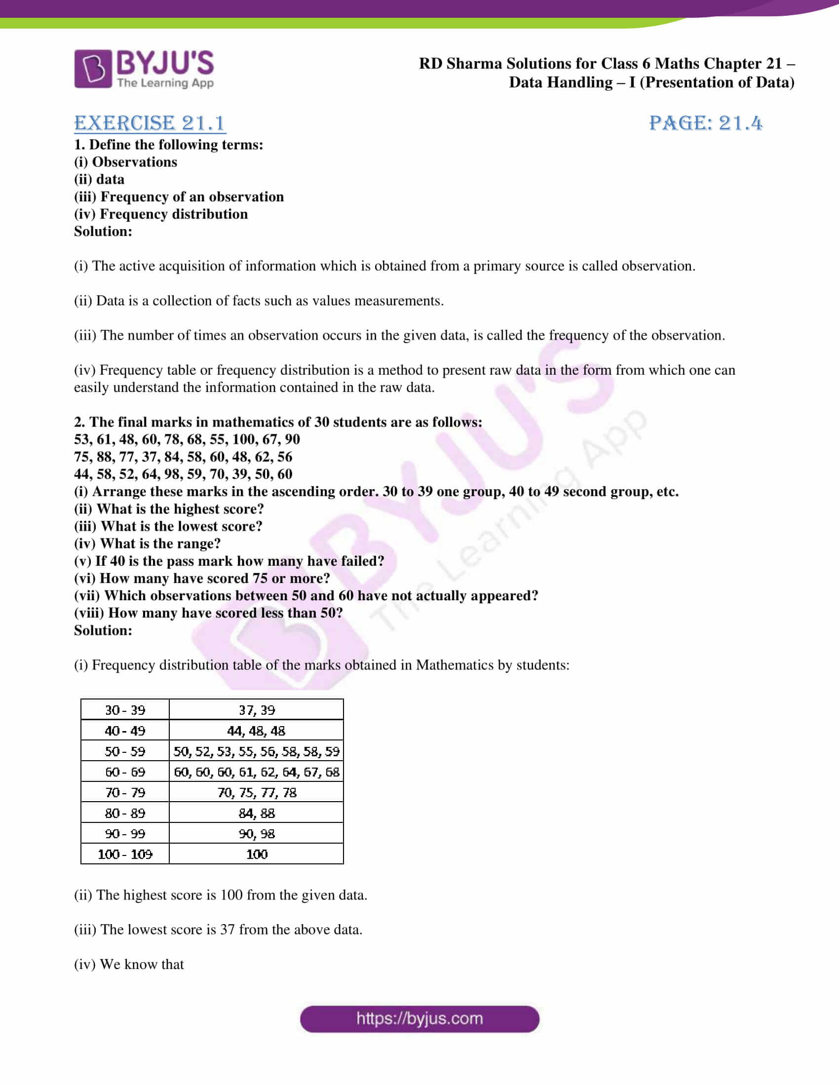rd sharma solutions class 6 maths chapter 21
