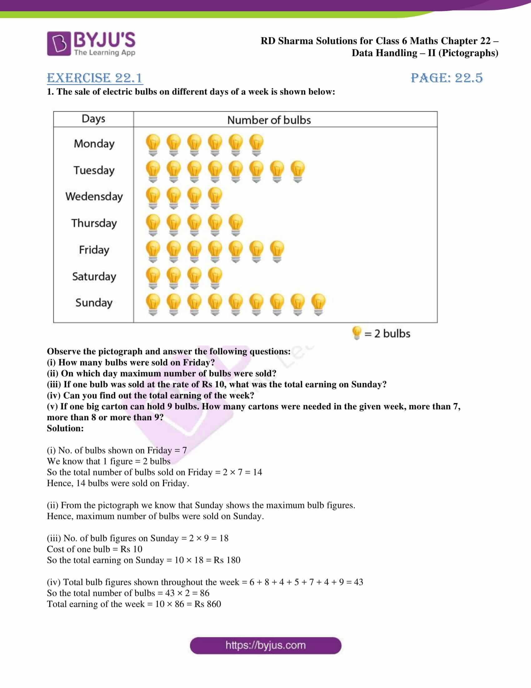 rd sharma solutions class 6 maths chapter 22