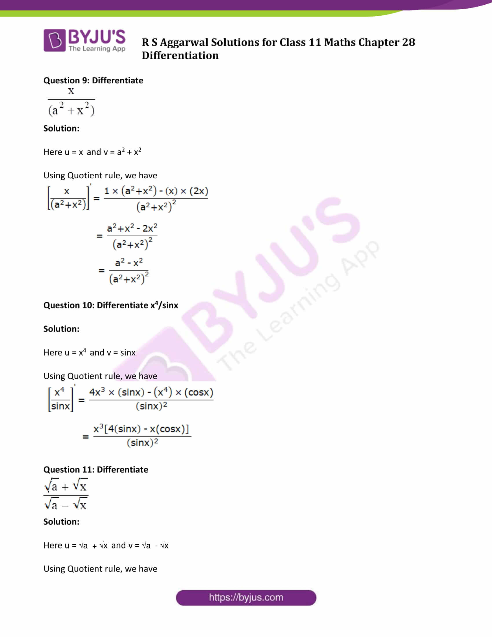 rs aggarwal solution class 11 maths chapter 28 ex d