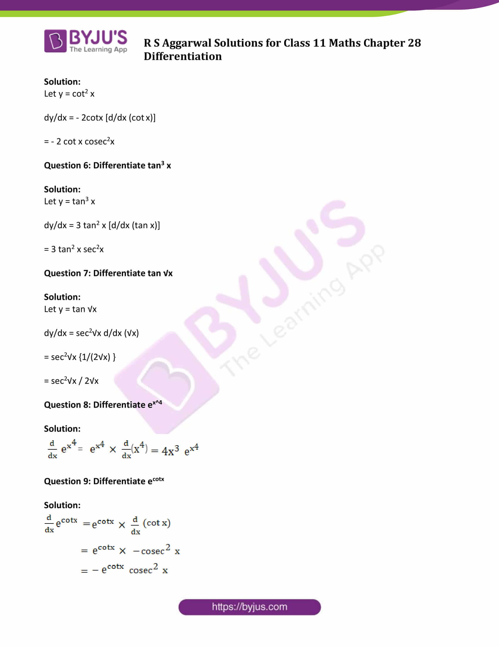 rs aggarwal solution class 11 maths chapter 28 ex e