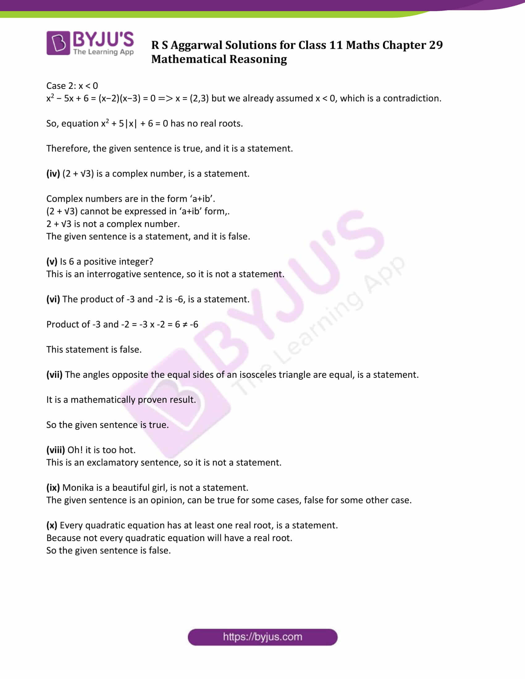 rs aggarwal solution class 11 maths chapter 29 ex a