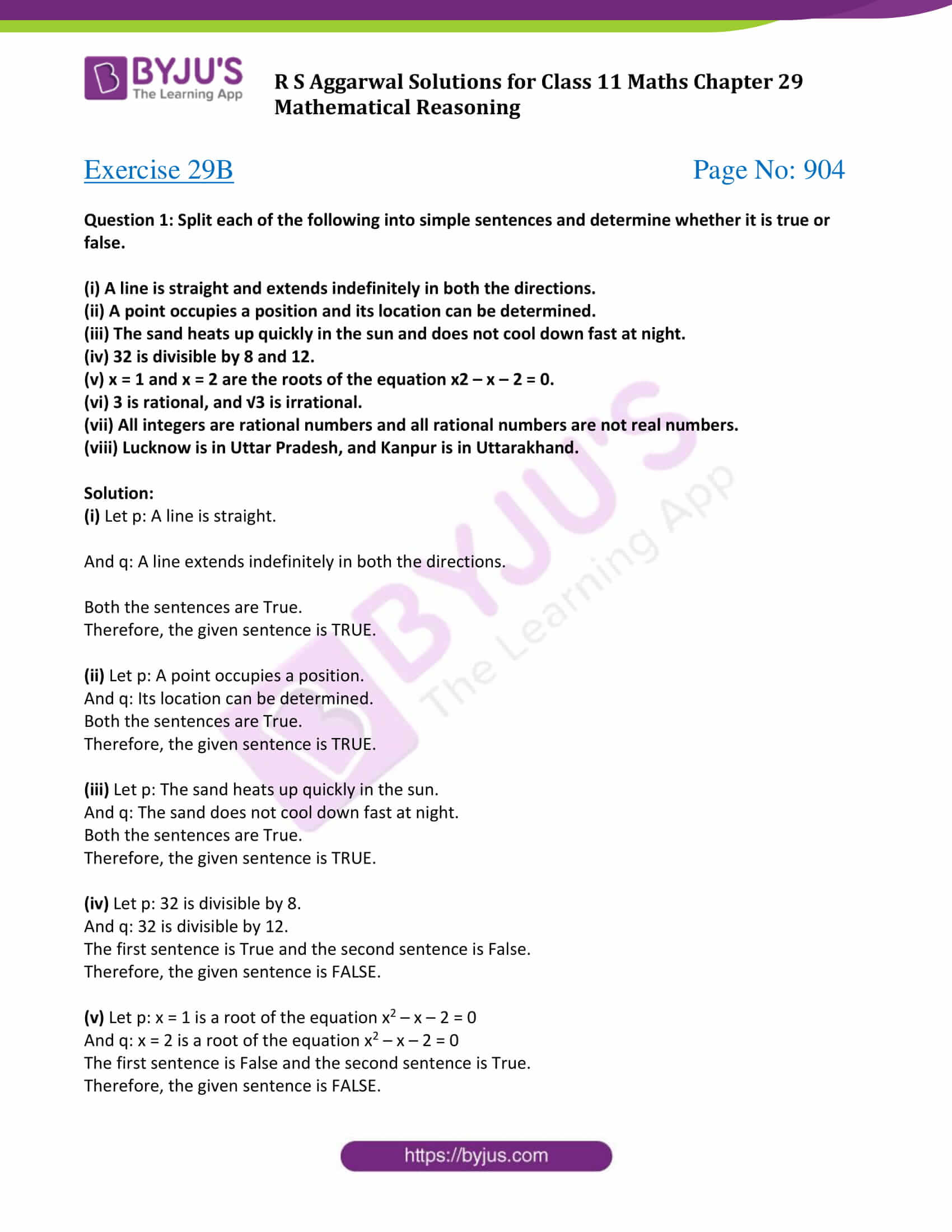 rs aggarwal solution class 11 maths chapter 29 ex b