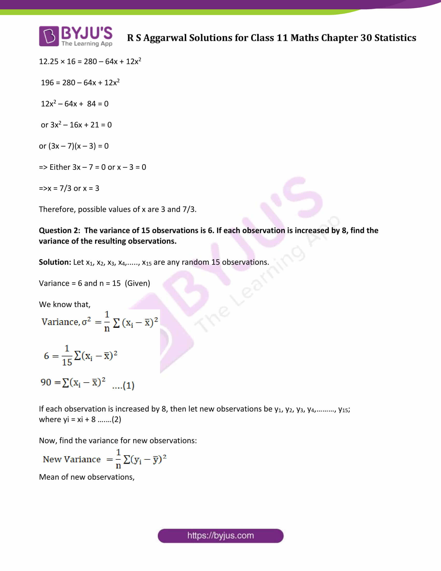 rs aggarwal solution class 11 maths chapter 30 ex c