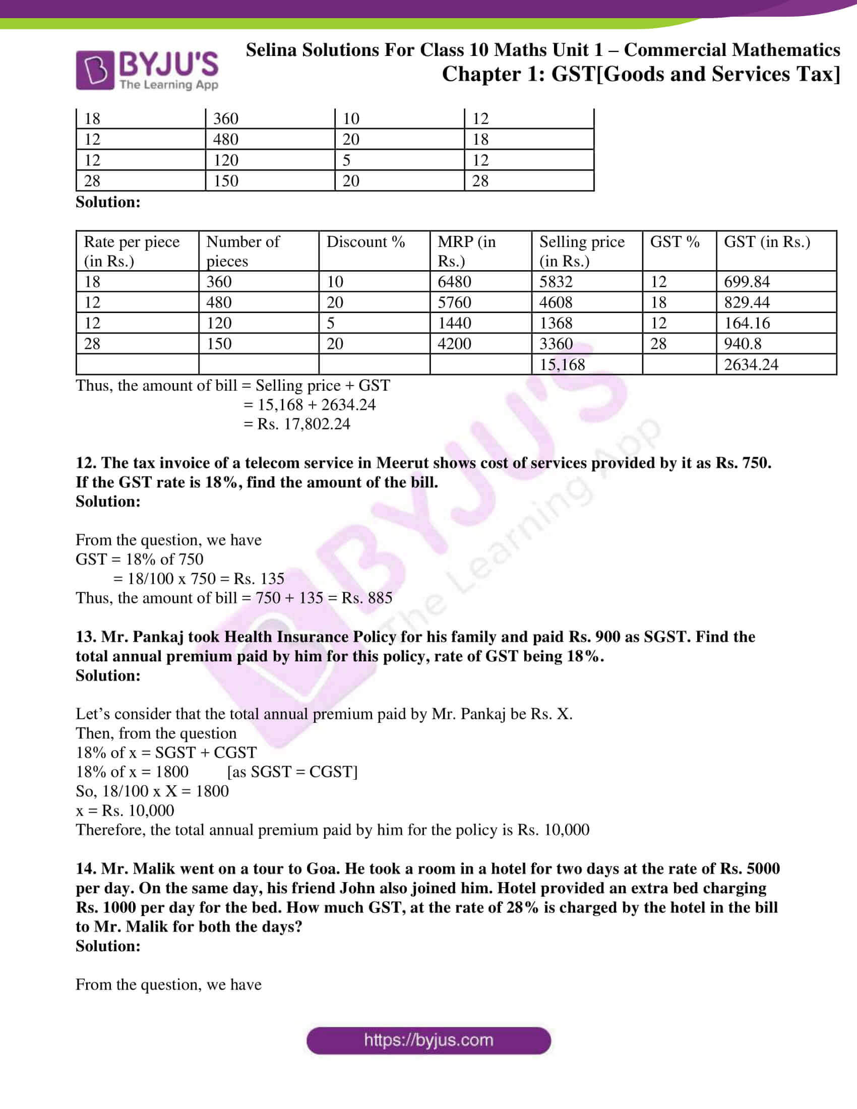 selina solution concise maths class 10 chapter 1a