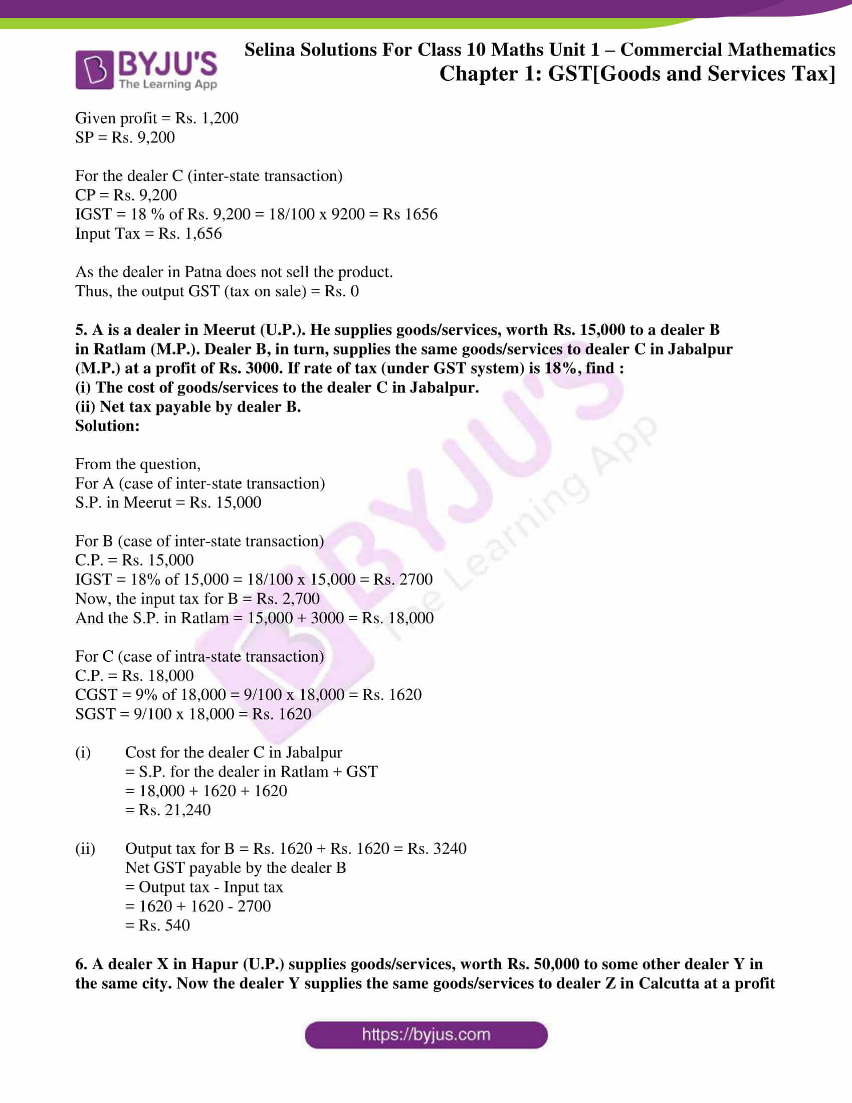 selina solution concise maths class 10 chapter 1b