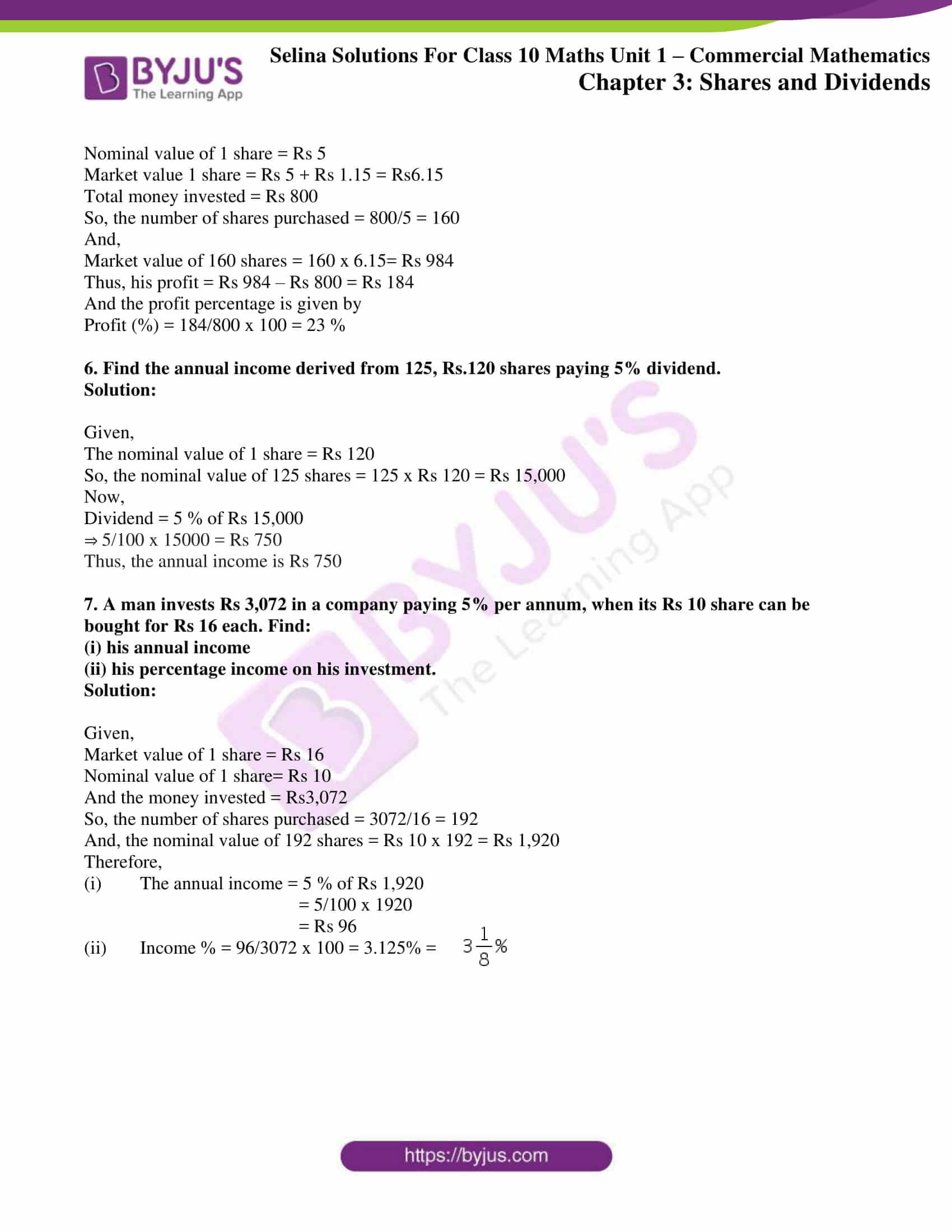 selina solution concise maths class 10 chapter 3a