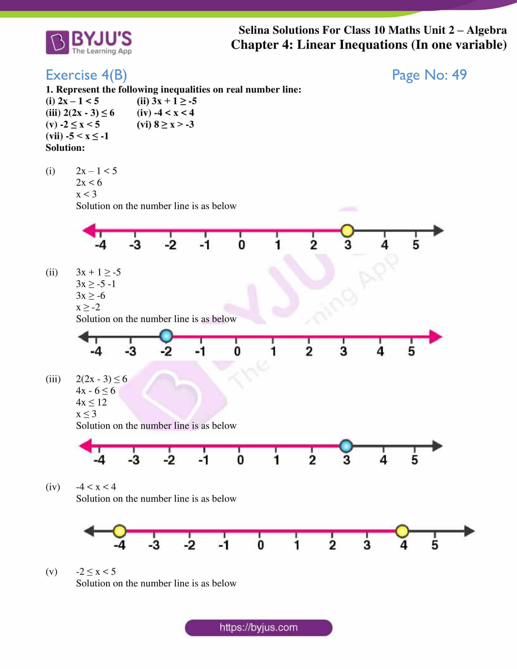 selina solution concise maths class 10 chapter 4