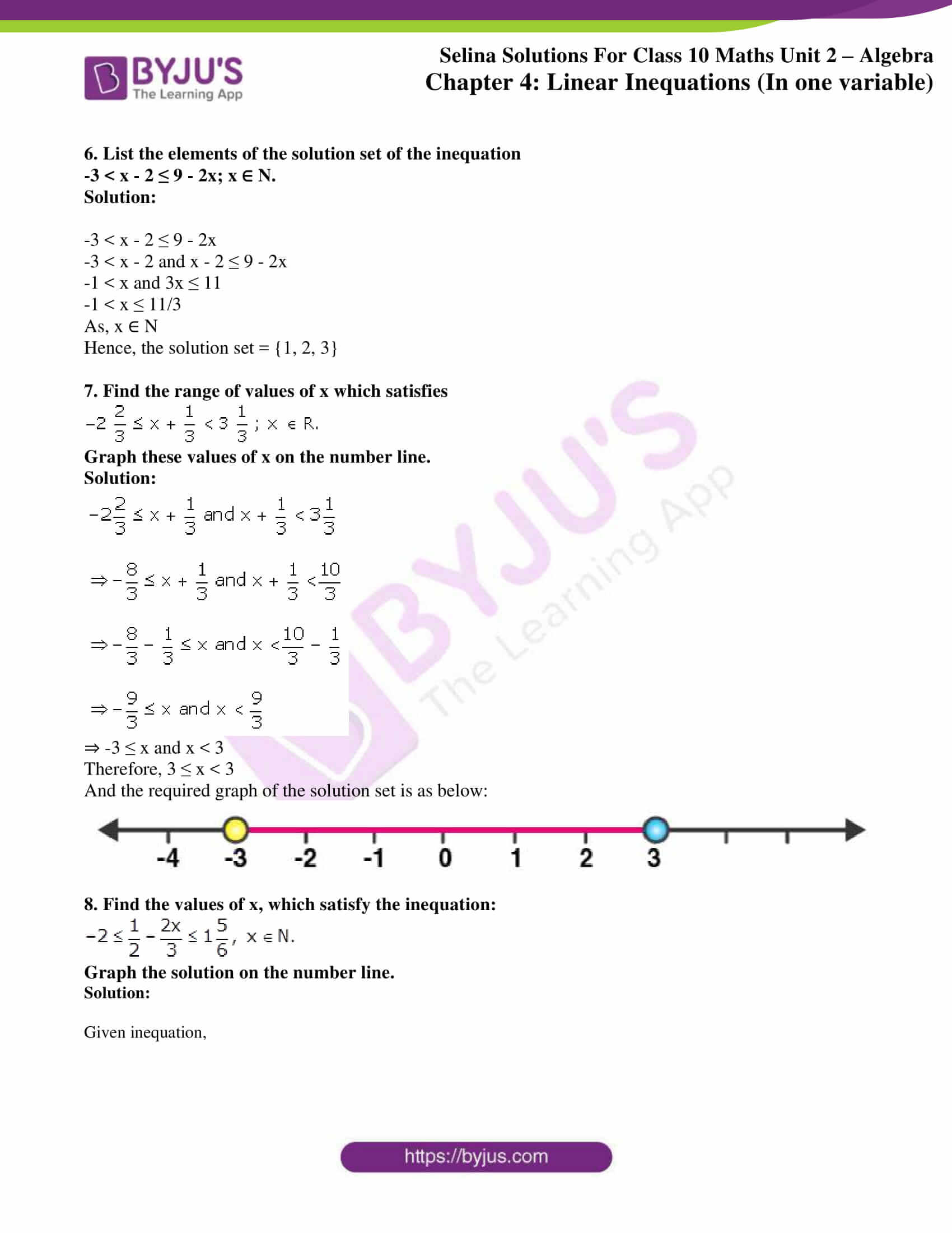 selina solution concise maths class 10 chapter 4b