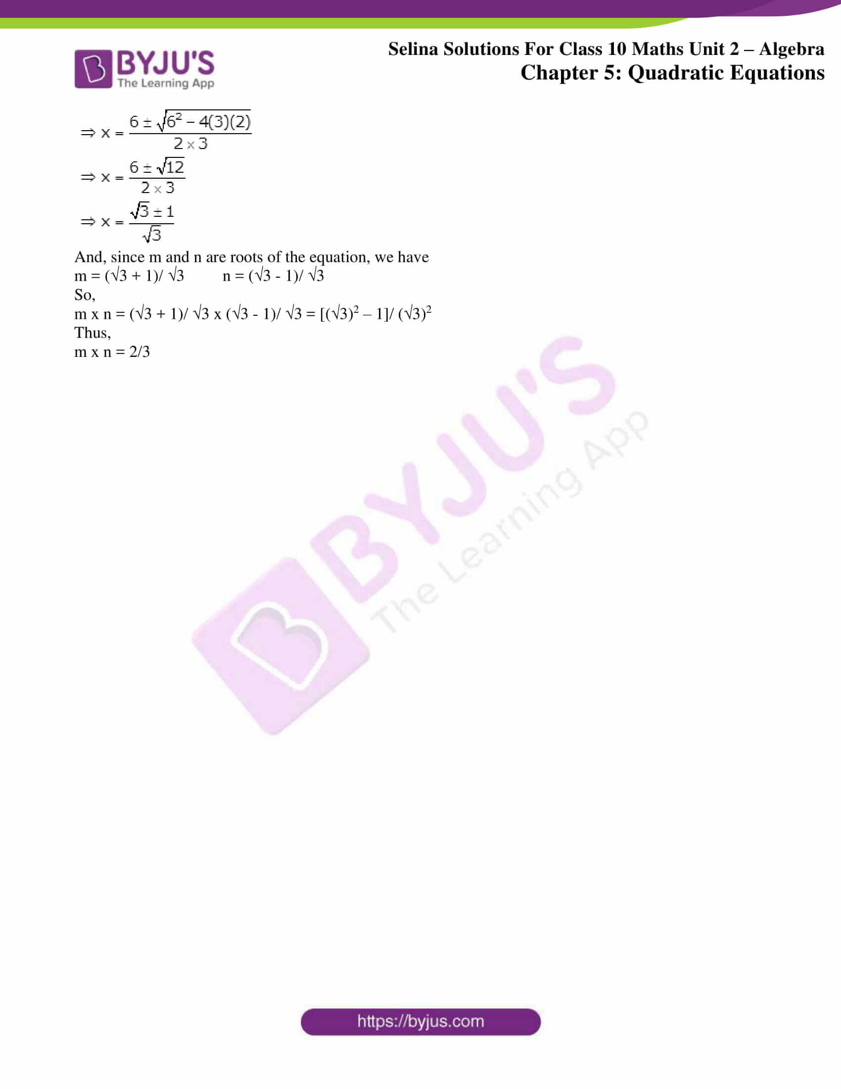 selina solution concise maths class 10 chapter 5f