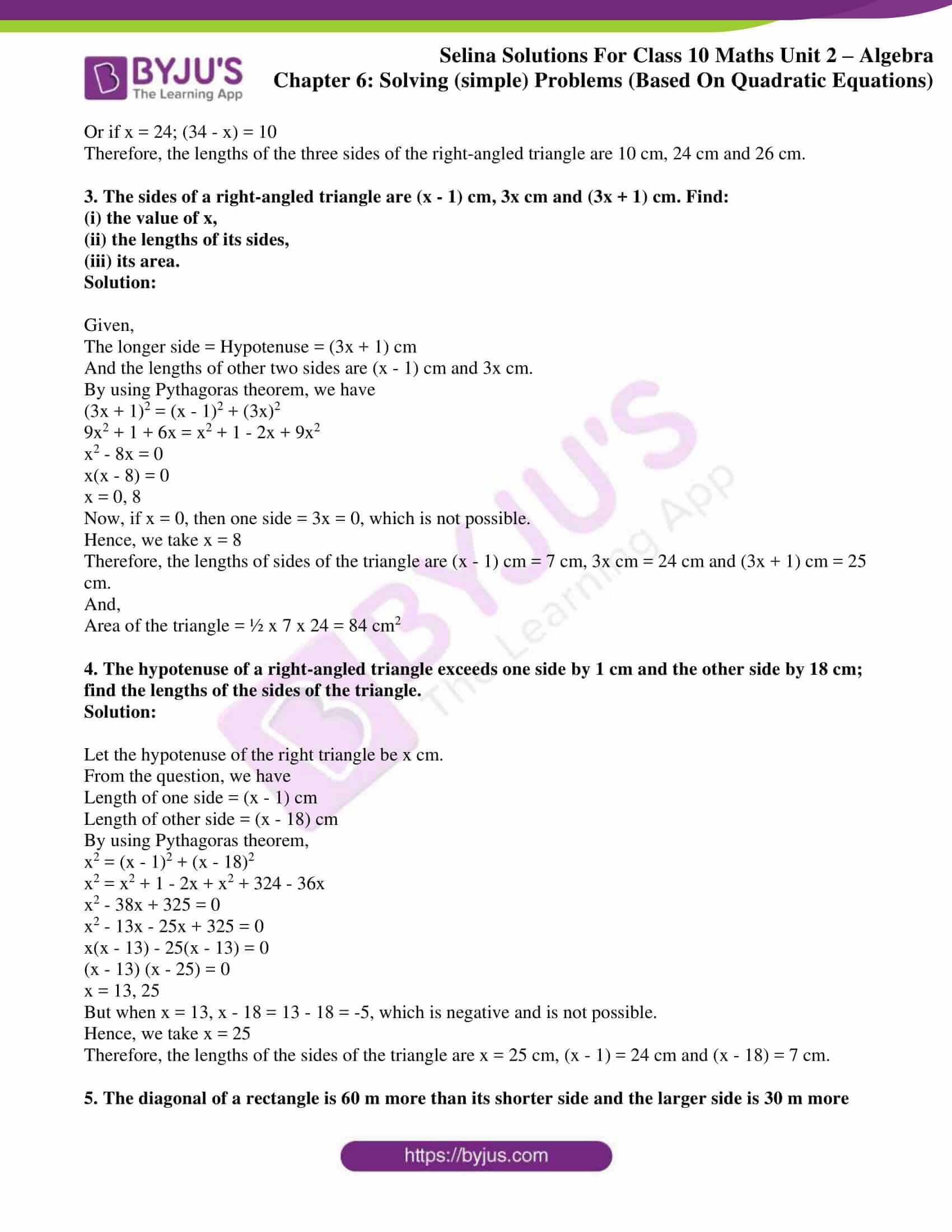 selina solution concise maths class 10 chapter 6b