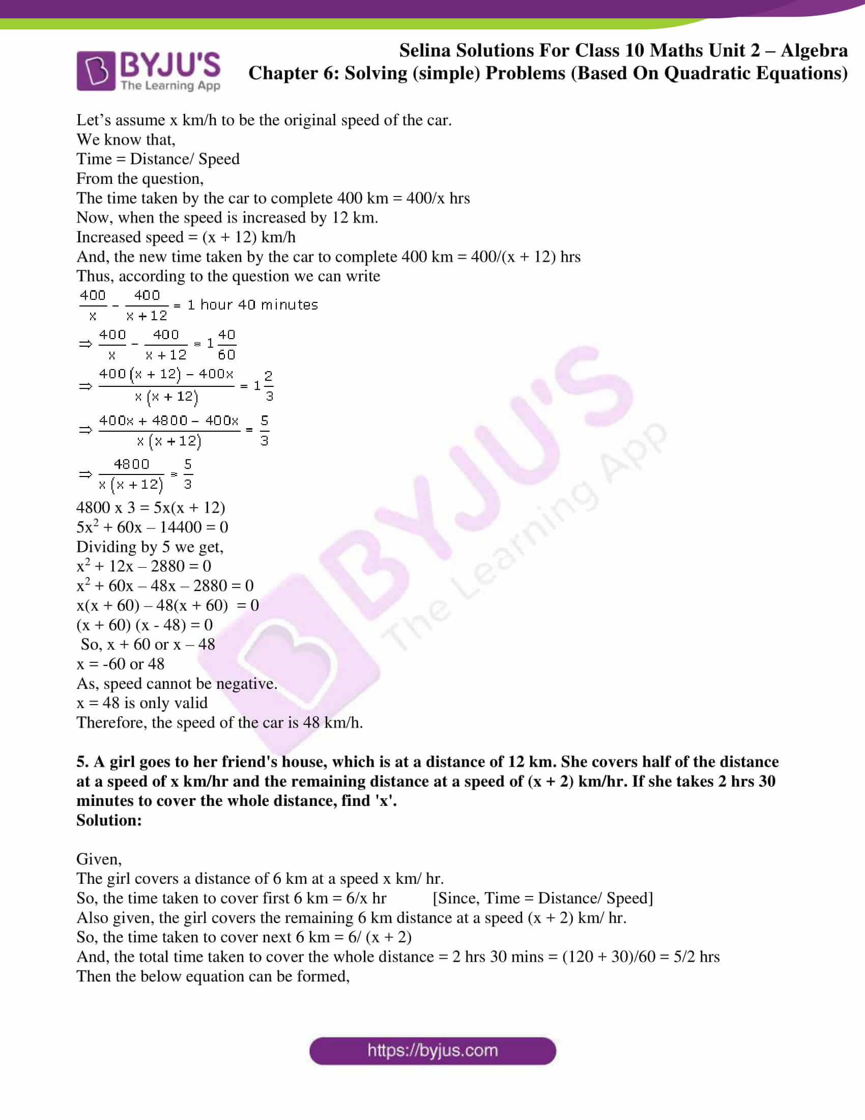 selina solution concise maths class 10 chapter 6c
