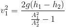venturimeter velocity