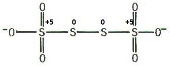Tetra-thionate ion