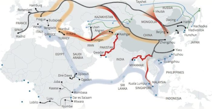 Routes of the Maritime Silk Road Map